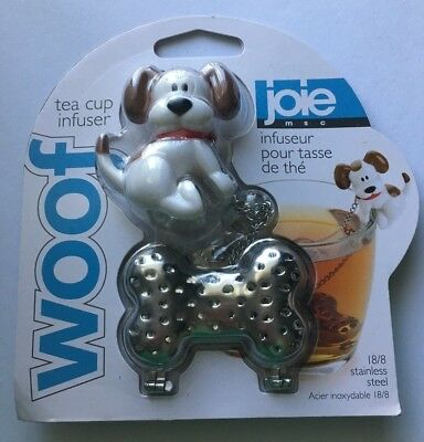 Joie Woof Loose Leaf Tea Cup 18//8 Stainless Steel Infuser Dog Theme Steeper