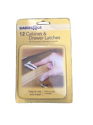 Babies R Us 12-Pack Cabinet & Drawer Latches Child Pet Safety Prevention Home