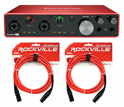 Focusrite SCARLETT 8I6 3rd Gen USB Audio Interface w/ Pro Tools First+Cables