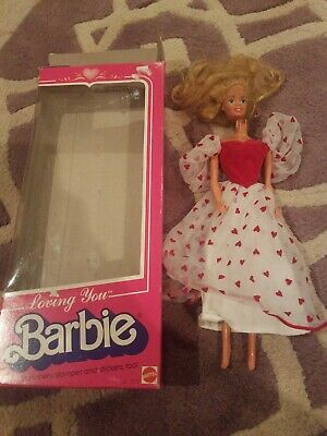 Vintage 1983 Loving You BARBIE #7072 Superstar Era Dress head is off with box