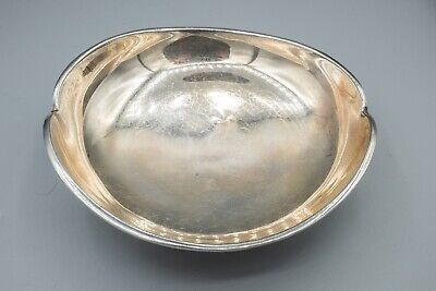 """Vintage Fabian Mexico Sterling Silver Modernist Candy Bowl 232.8g - 6"""" L"""