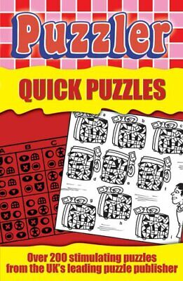 """""""Puzzler"""" Quick Puzzles Paperback Book The Cheap Fast Free Post"""
