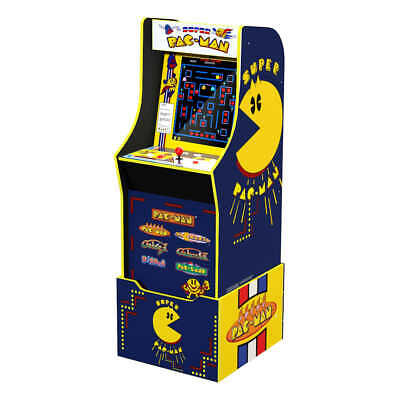 Arcade1Up Mini Pac-Man Arcade Cabinet with Riser, Stool, and Light Up Marquee