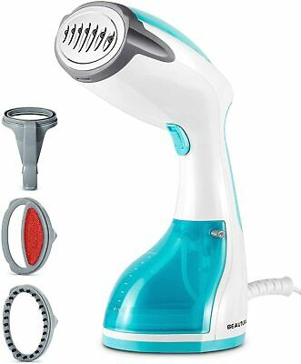 Handheld Garment Steamer and 60s Fast-Heat Vertical Clothes Steamer with 180ML,White HEOMU Travel Portable Clothes Steamers