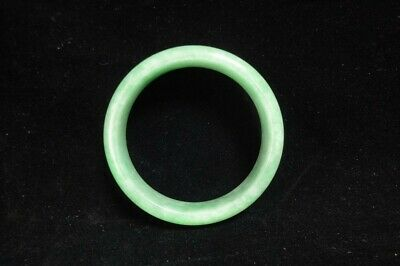 Old Chinese Natural Jadeite Hand Carving Women Bangle Emerald Bracelet