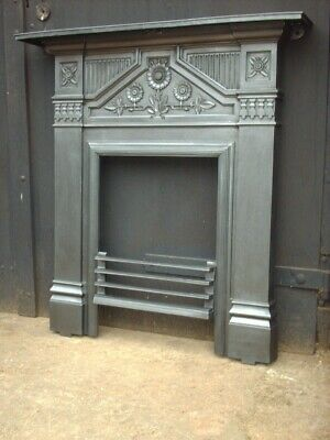 Victorian Carron Cast Iron Fire Surround