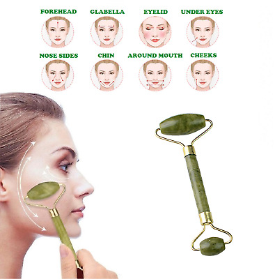 Jade Facial Beauty Massage Roller Tool Face Eye Neck Body Anti Ageing Therapy