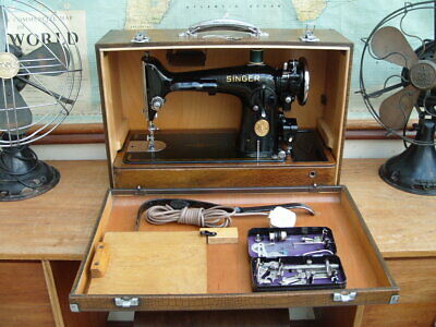 VINTAGE c1939 SINGER 201K POTTED MOTOR ELECTRIC SEWING MACHINE SERVICED G.W.O