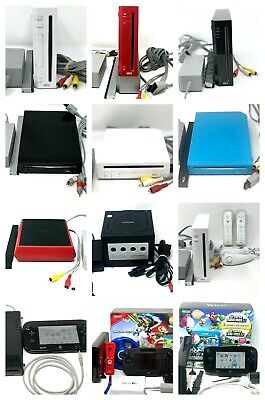 Nintendo Wii GameCube Compatible Or Wii U Console with Gamepad 32GB Deluxe