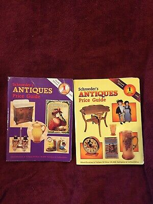 2 Lot SCHROEDER'S Antiques Price Guide Identification Values Collectibles Book