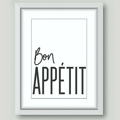 Wall Art Prints Pictures Posters Home Living Room Bathroom Kitchen Bon Appetit