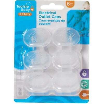 6 Pack Child Safety Outlet Caps