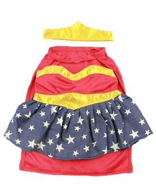 """Supergirl Wonder Woman Teddy clothes 16"""" outfit fit 14"""" - 18"""" build a bear"""