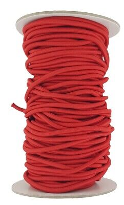 Elastic Cord 4 mm round sold in lengths of 2,3,4,5, Metres Red