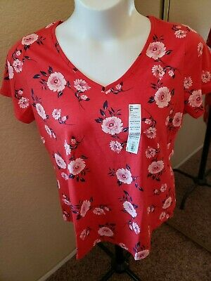 SONOMA Goods For Life NWT Size XL Red with Flowers Top