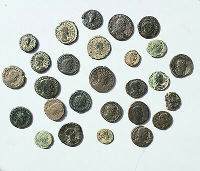 Lot Of 27 Roman Bronze Coins From The 3Rd And 4Th Century - Sold As Seen