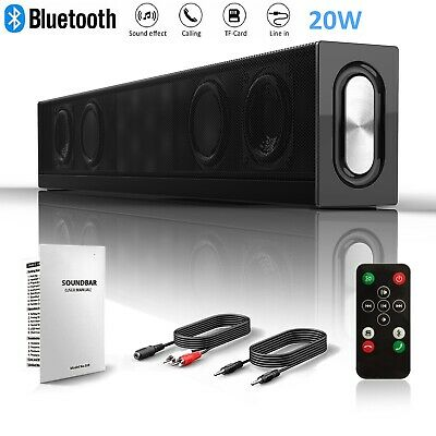 Bluetooth TV Sound Bar Speaker Wireless Home Theater 3D System Subwoofer 20W MIC