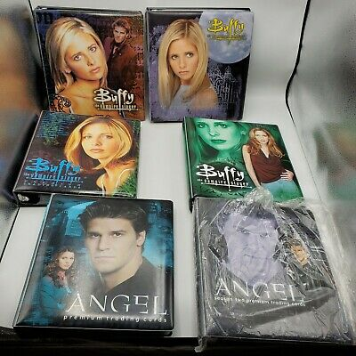 HUGE Lot of Buffy the Vampire Slayer & Angel Trading Cards w/ Collector Binders