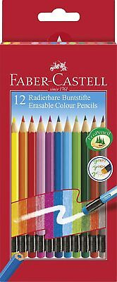 Faber-Castell Erasable Colouring Pencils - Assorted Colours - Pack of 12