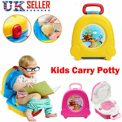 Kids Toilet Seat Car Travel Child Baby Toddler Potty Training Trainer Portable