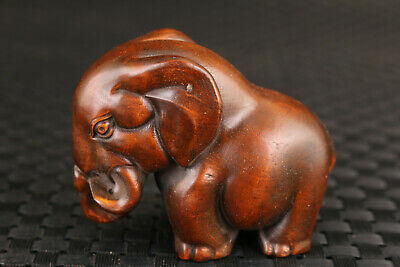 Rare Chinese boxwood dancing elephant Figure statue collection Art deco