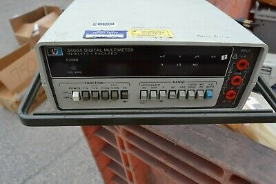HP 3466A Digital Multimeter  Hewlett Packard free shipping