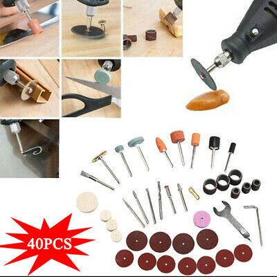 40pcs Mini Electric Drill Grinder Rotary Tool Grinding Polishing Set Tools Props