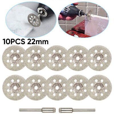 10Pcs Circular Saw Discs Cutting Wheel Blades With 2 Mandrel For Rotary Tools