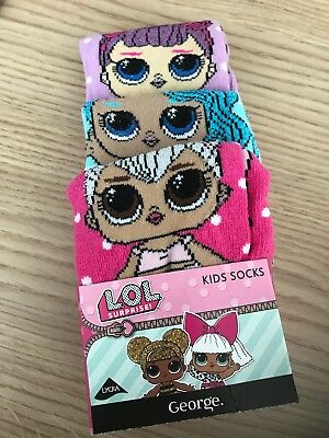 3 Lol Surprise Doll Sparkly Glitter Girl Socks 12 1 2 3 Party Favour Hello Kitty