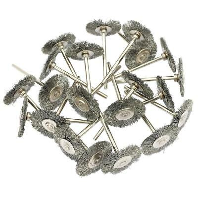 10Pcs 22 MM Dremel Steel Wire Wheel Brushes Set for Rotary Tool Die Grinding UK