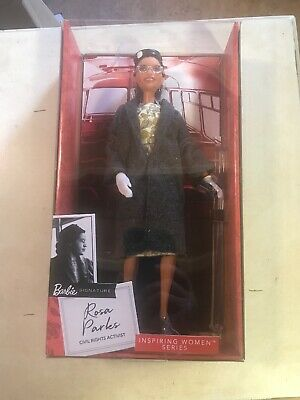 Barbie Inspiring Women Rosa Parks Doll with Accessories NEW DAMAGED BOX