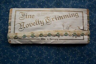 Antique Fine Novelty Trimming Machine Tatting Lace Flower Dolls Millinery Crafts