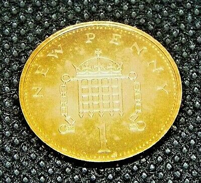 1977 PROOF UK coin 1p One Penny  From Original Royal Mint set