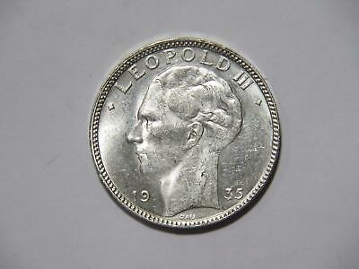Belgium 1935 20 Francs King Leopold Iii Unc Silver Type World Coin 🌈⭐🌈