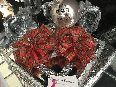 Huge Frilly Tartan Bow Ruffle Ankle Socks Jazziejems Boutique London❤️