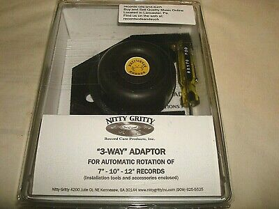 "Nitty Gritty 3-Way Adapter For Automatic Rotation Of 7""-10""-12"" Records  New"