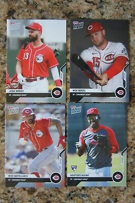 2020 Topps Now Road to Opening Day Cincinnati Reds Team Set Votto Senzel Aquino