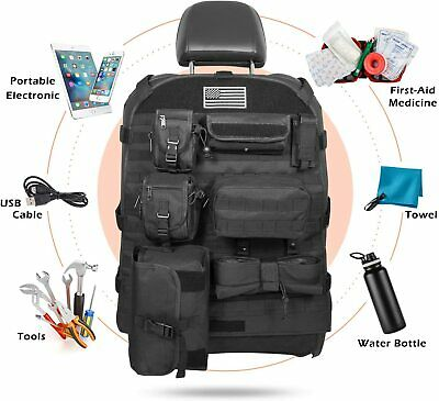 Front Seat Cover Organizer Storage Bags Molle Pouch Bag for Jeep Wrangler JK JL
