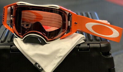 New Oakley Airbrake MX Goggle Hazard White/Orange – Bronze Prizm Lens