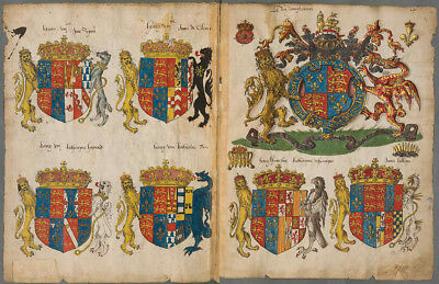 ENGLISH COATS OF ARMS Directory , 1550 Facsimile