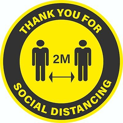 Social Distancing Floor Stickers,10 Colours,Anti-Slip,Floor Signs, Shops, Retail