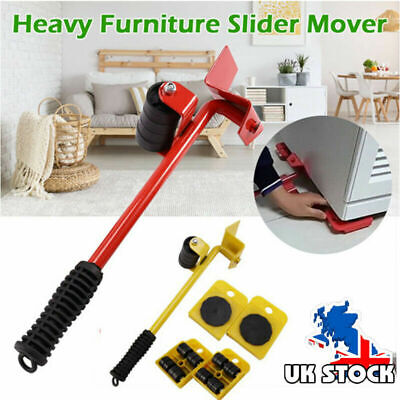 Heavy Furniture Shifter Lifter + 4 Remover Roller Wheels Moving Tools Set New