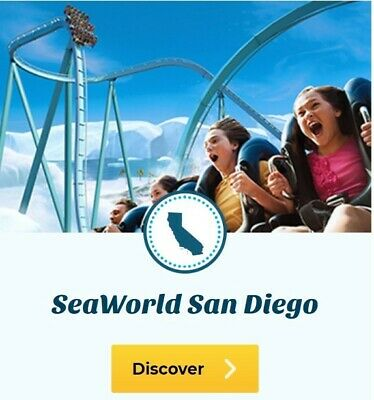 6 SeaWorld San Diego Tickets Expires: 12/31/20