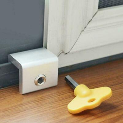 Sliding Door Window Safety Lock Security Slide Stopper Adjus CL Child Fo P6W7