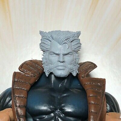 Marvel Legends Custom #44 WOLVERINE Head ONLY parts Cast unpainted!