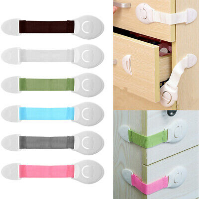 Security Door Stopper Window Child Cupboard Drawer Cabinet Lock Baby Safety