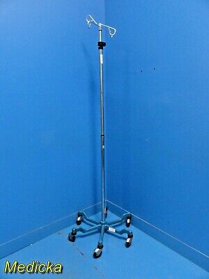 Medine Industries MDS 80800 IV Pole Stand - 4 Hooks - Rolling Cart~ 21243