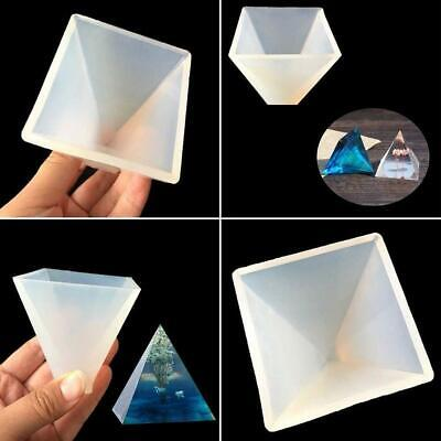 Large Pyramid Shape Silicone Mold Resin Casting Jewelry Mould Mold Making S8W7
