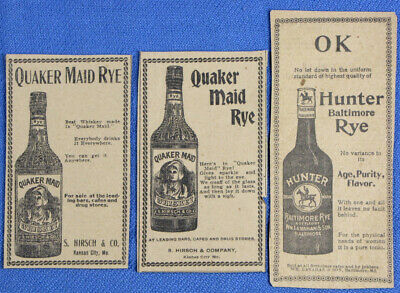 RARE 1903 Quaker Maid Rye Whiskey Newspaper Ads