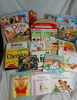 Lot of 15 Board Books Baby Toddler Daycare Preschool Children educational Book